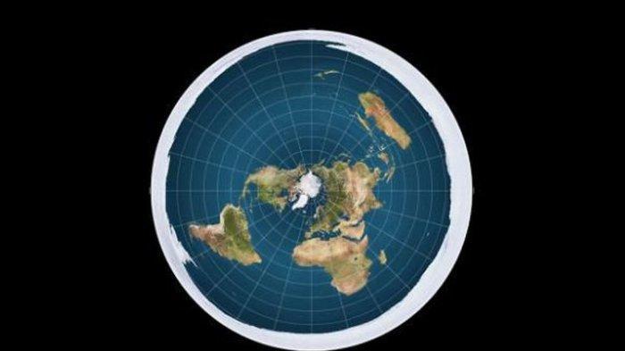 eta Bumi jika digambarkan sebagai obyek yang datar serupa piringan.