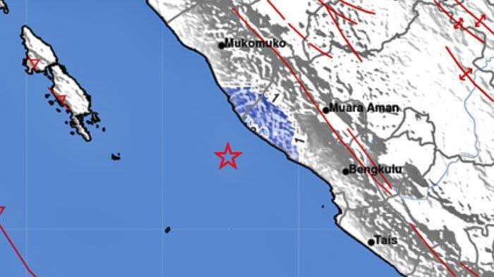 Gempa Bumi Pukul 22.21 WIB, Tercatat BMKG, Ini Lokasi dan Kekuatannya
