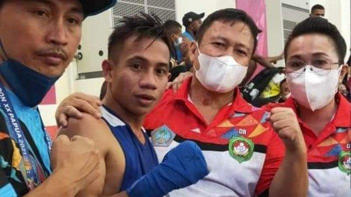 Tinju Pastikan Sumbang Medali untuk Sulut, Petinju Juanly Abas Lolos ke Semifinal PON XX Papua 2021