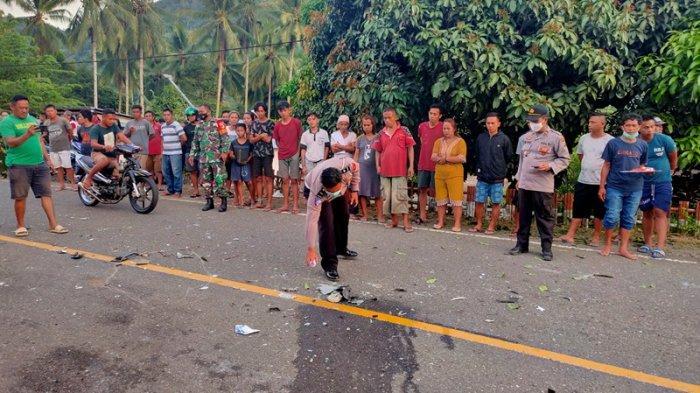 Polisi Gelar Olah TKP, Cari Penyebab Lakalantas Maut di Desa Muntoi Bolmong