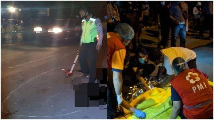 Kecelakaan Maut Pukul 23.30 Wita, Seorang Pria Tewas di TKP, Motor Korban Tabrak Truk dari Belakang