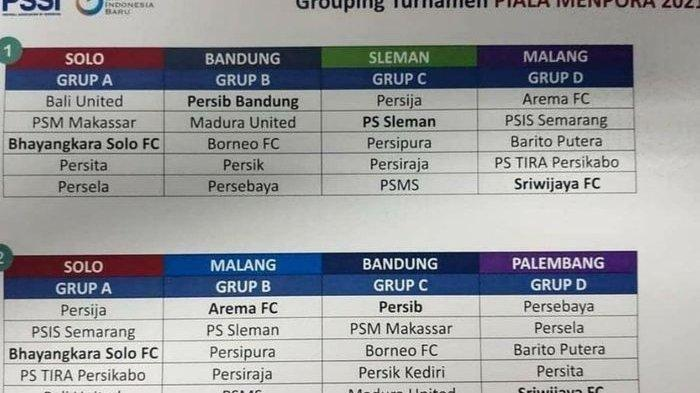 Draft pembagian grup <a href='https://manado.tribunnews.com/tag/piala-menpora-2021' title='PialaMenpora2021'>PialaMenpora2021</a>