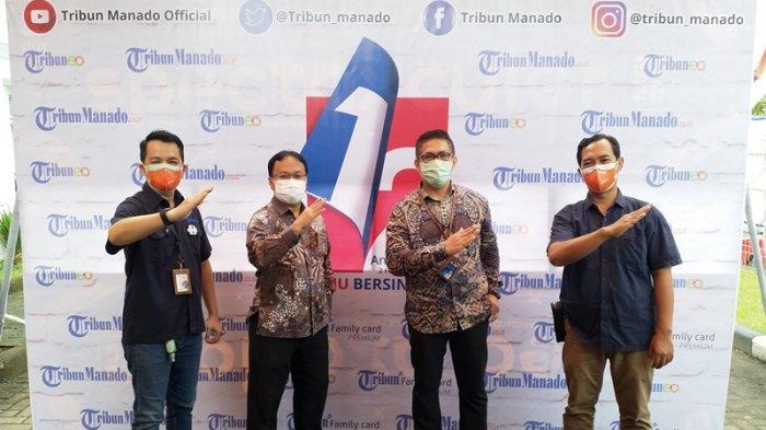 Pimpinan BNI Manado Sambangi Kantor Tribun, Meriahkan HUT ke 12 Tribun Manado