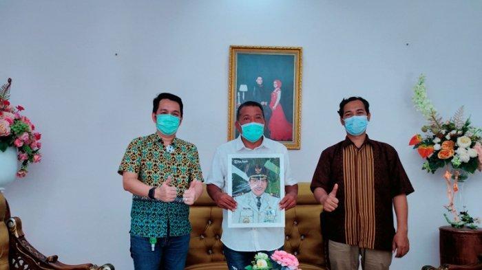 Pimpinan Tribun Manado Silaturahmi Bersama Bupati Bolmu Depri Pontoh, Bahas Potensi Wisata