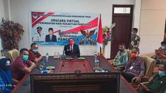 Pjs Bupati Boltim Christiano Talumepa Ikuti Upacara Virtual Peringatan Hari Kesaktian Pancasila