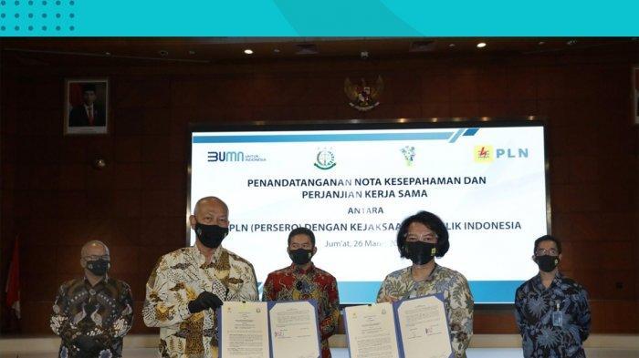 PLN dan Kejaksaan Agung RepubIik Indonesia menandatangani nota kesepahaman dan perjanjian kerja sama tentang koordinasi dalam pelaksanaan tugas dan fungsi.