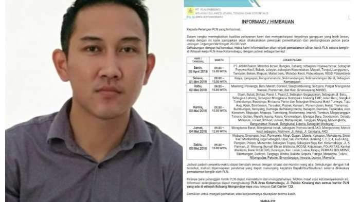 Kepala PLN Ranting Molibagu Beri Tanggapan Terkait Pemadaman Listrik pada 5 Mei 2018