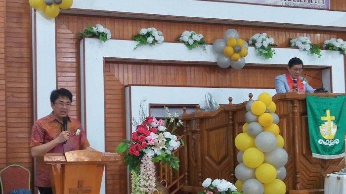 Penatua GSVL Lantik Panji Yosua Anugerah Teling, Andrei Angouw Hadiri Peletakan Batu Pertama