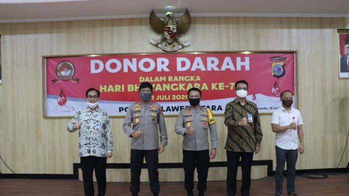 Polda Sulut Gelar Donor Darah Sambut Hari Bhayangkara ke-74 yang Jatuh Pada 1 Juli 2020
