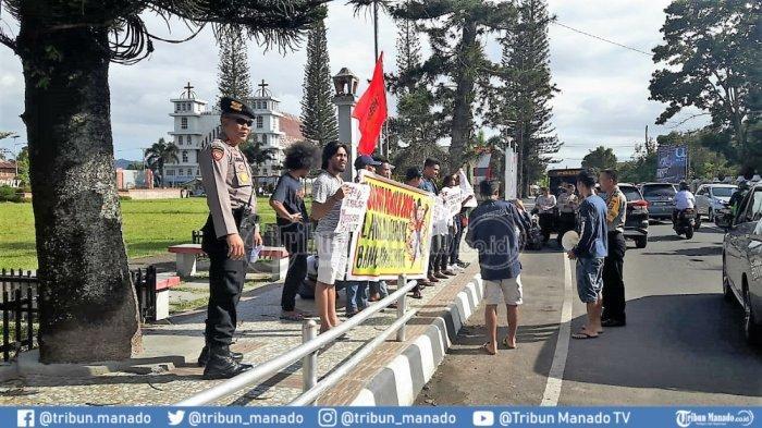 Polisi Amankan Orasi Golput di Lapangan God Bless Minahasa