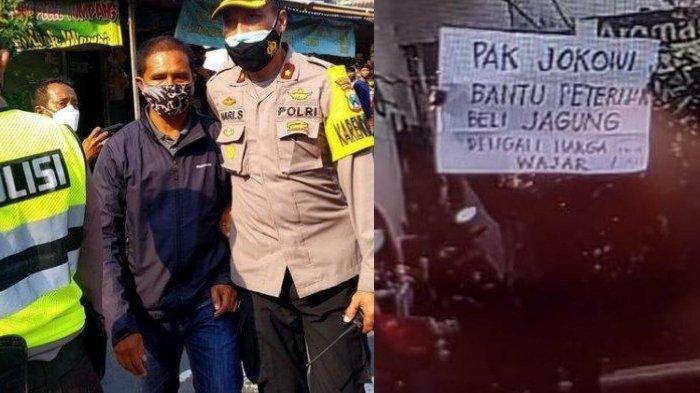 Pria Ini Ditangkap Polisi Usai Bentangkan Spanduk saat Jokowi Lambaikan Tangan