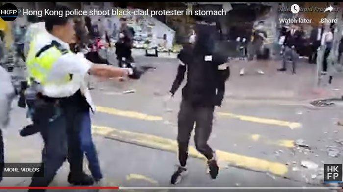 Perwira Polisi Tembak Perut Demonstran, Rekaman Video Beredar di FB