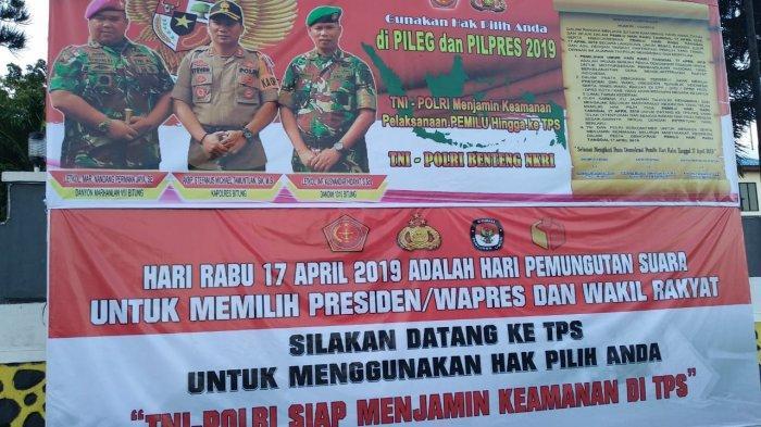 Jelang Pemilu 2019 - Polres Bitung Imbau Warga Gunakan Hak Pilih Melalui Baliho