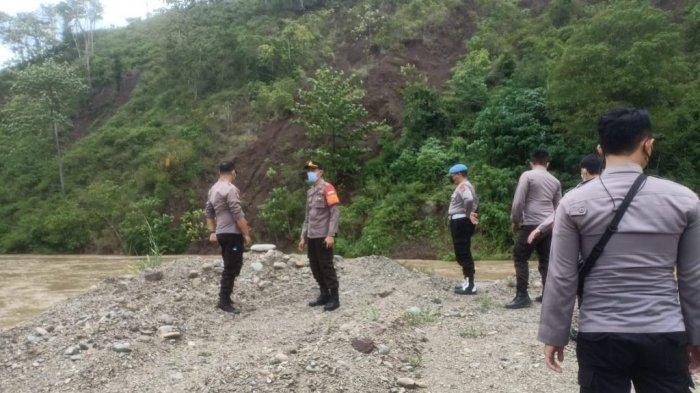 Polres Bolmong Sidak Pertambangan Emas di Desa Totabuan