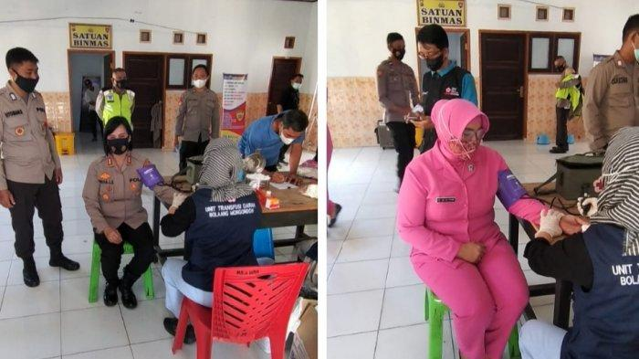 Sambut HUT ke-75 Bhayangkara, Polres Bolmong Gelar Donor Darah