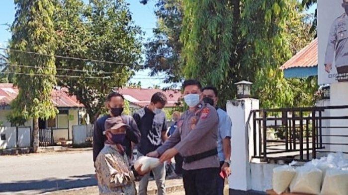 Sambut Idul Fitri, Polres Bolmut Bagikan Sembako Kepada Kaum Duafa