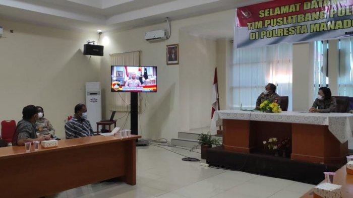 Kunjungi Polresta Manado Puslitbang Polri Nilai Kinerja Para Personel