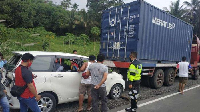 Rem Blong Penyebab Kecelakaan Karambol di Minut, Akibatnya Fernando Taher Tergencet Tronton