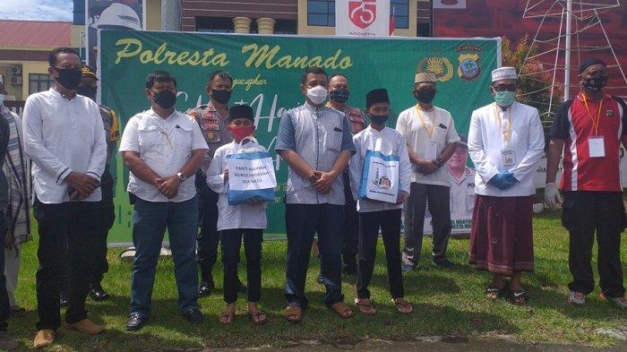 Polresta Manado Sembelih Hewan Kurban  untuk Anggota, Masyarakat hingga Panti Asuhan