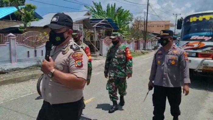 Polsek Beo Talaud Menggelar Operasi Yustisi Penegakan Prokes dan Keselamatan Berkendara