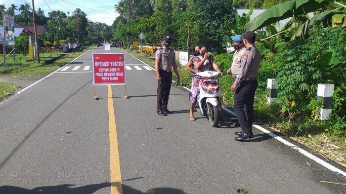 Polsek Essang Kabupaten Talaud Gelar Ops Yustisi Protkes di Jalan Raya