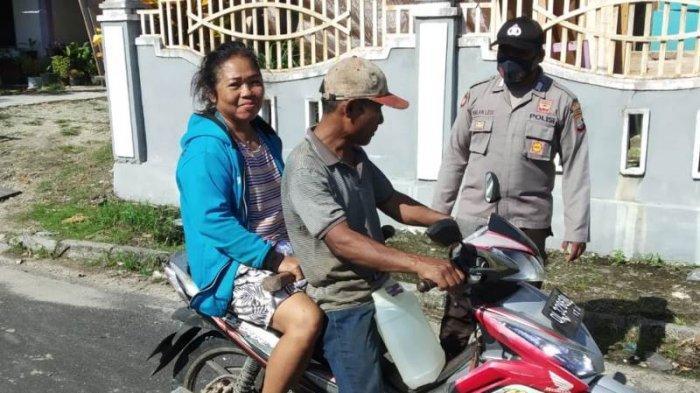 Polsek Lirung Kabupaten Talaud Gelar Patroli Pencegahan Covid 19