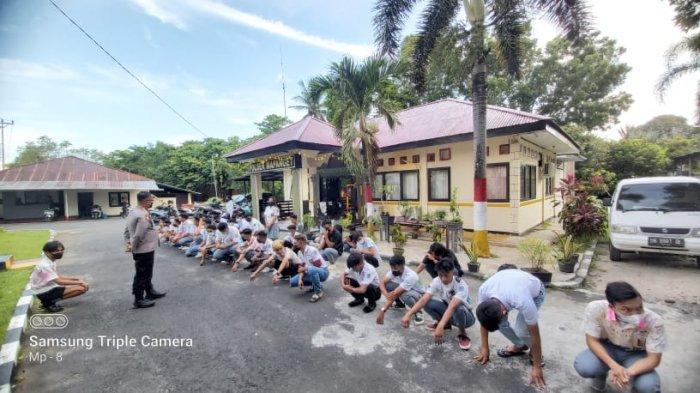 Polsek Mapanget Amankan 45 Siswa, Akan Lakukan Konvoi Perayaan Kelulusan