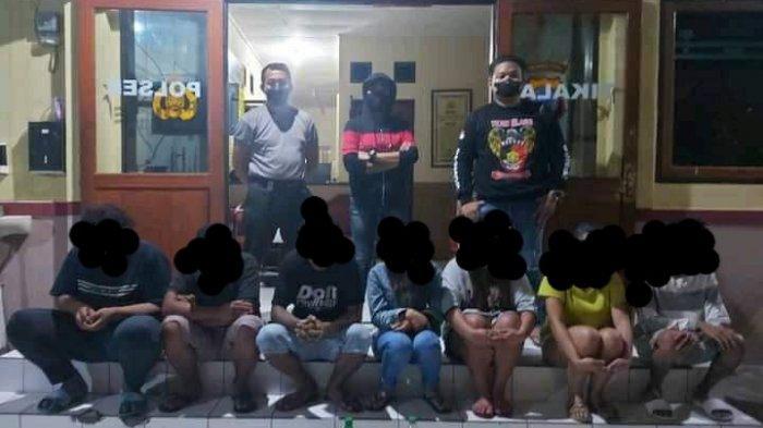 Pesta Miras dan Buat Keributan, Sekelompok Anak Muda Dendengan Dalam Diamankan Polsek Tikala
