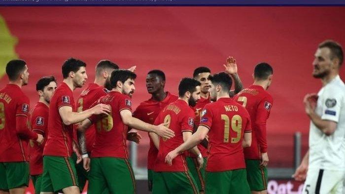 Portugal saat menghadapi timnas Azerbaijan dalam partai perdana Grup A Kualifikasi Piala Dunia zona Eropa, Rabu (24/3/2021) waktu setempat atau Kamis pukul 02.45 WIB.