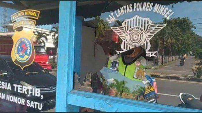 Pos Polisi di Kabupaten Minahasa Selatan Dilempar, Pelaku Diburu