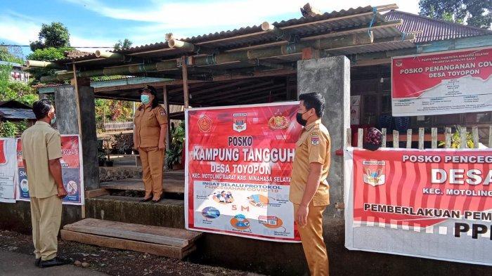Cegah Penyebaran Covid-19, Tujuh Desa di Kecamatan Motoling Barat Bangun Posko PPKM Mikro