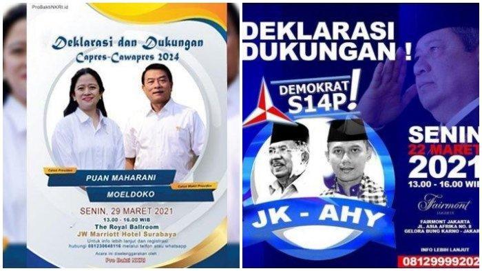 Partai Demokrat Tegaskan, Poster JK-AHY Yang Beredar Maju Pilpres 2024 adalah Hoaks