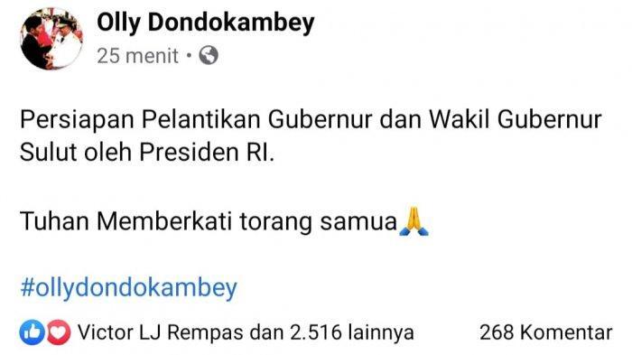 Postingan Olly Dondokambey Dilantik Sebagai Gubernur Sulawesi Utara