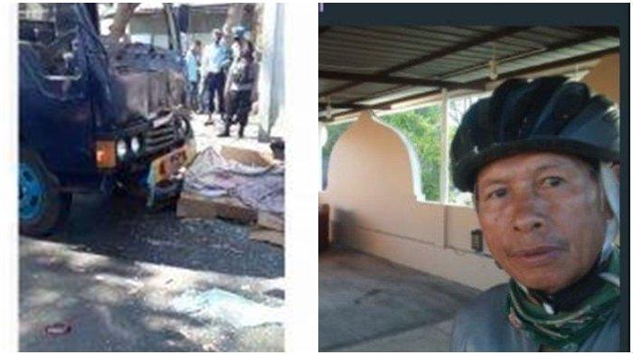 Innalillahi Wa Innailaihi Rojiun, Udin Muda Pesepeda Senior Tewas Tertabrak Truk TNI AU Tadi Pagi