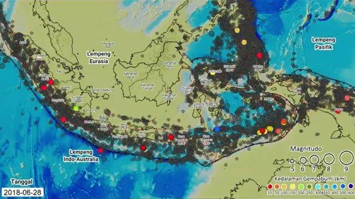 Gempa Bumi di Indonesia Sejak 1963-2018 dari Video BMKG, Netizen: 'Kalimantan Paling Aman Ya'
