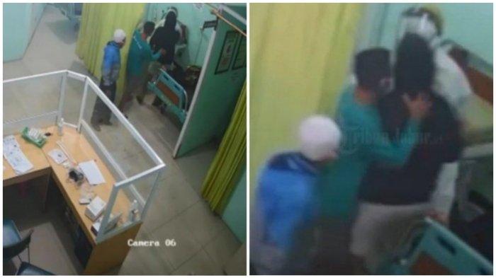 Seorang Perawat Dianiaya, Terekam CCTV Korban Dipukuli Pelaku yang Diduga Keluarga dari Pasien Covid