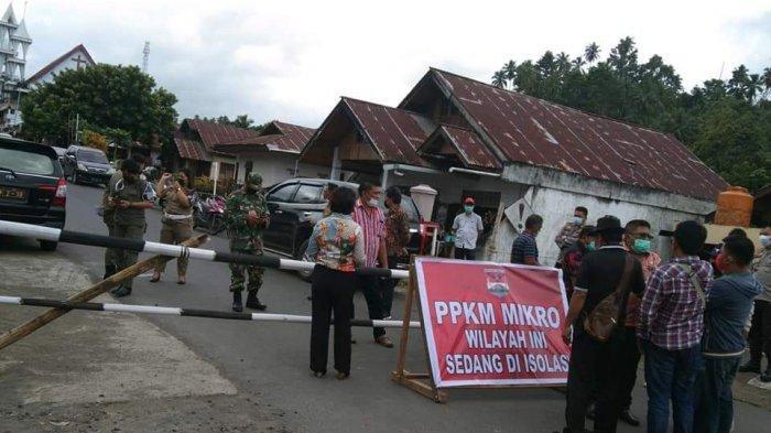 Kasus Positif Naik Signifikan, Desa Wioi Dua Kabupaten Mitra Diisolasi