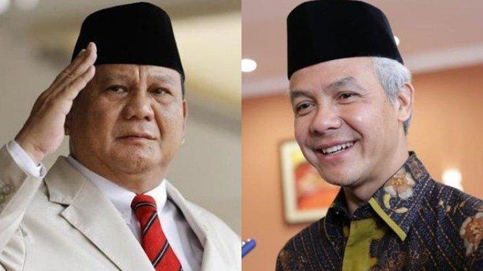 Prabowo Subianto dan Ganjar Pranowo.