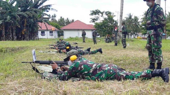 Prajurit TNI AD Talaud Asah Kemampuan Menembak