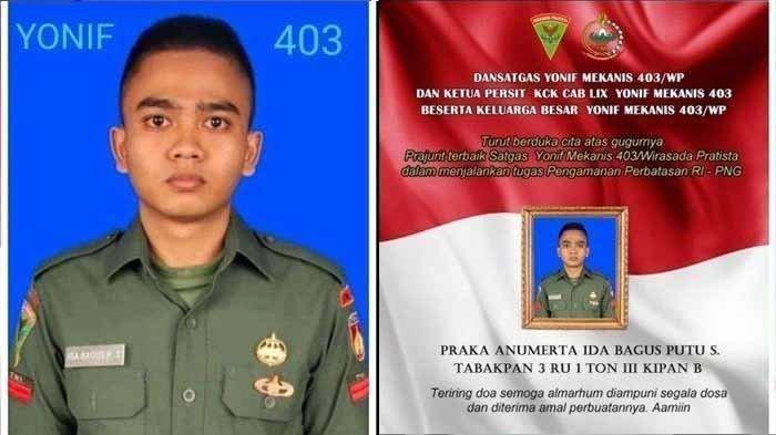 Baru 4 Tahun Jadi TNI, Pratu Ida Bagus Putu Gugur Ditembak KKB Papua Saat Evakuasi Jenazah Suster