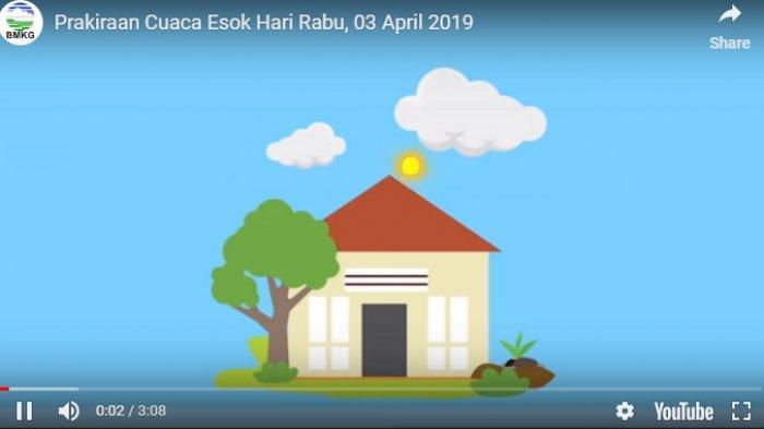 Prakiraan Cuaca Rabu 3 April 2019, Ada 33 Kota di Indonesia,Jakarta hinggaManado