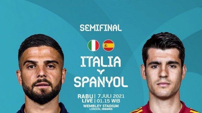 Prediksi Semifinal Euro 2020 Italia vs Spanyol, 5 Pertemuan Terakhir Gli Azzurri Hanya 1 Kali Menang