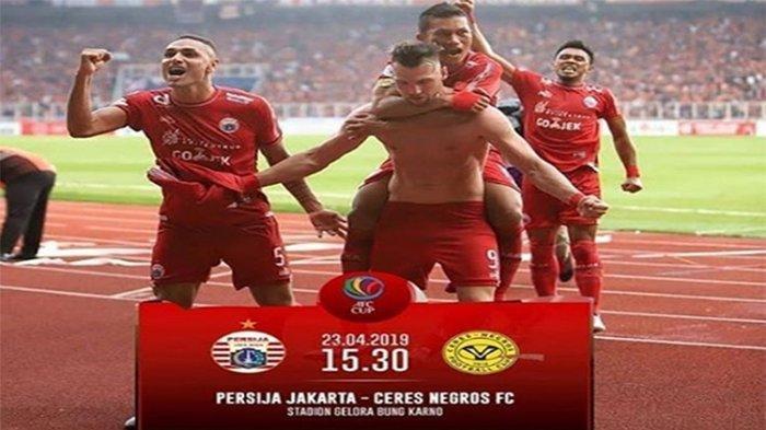 TERKINI - Live Streaming RCTI Persija Jakarta vs Ceres Negros, Tim Tuan Rumah Unggul 2-0
