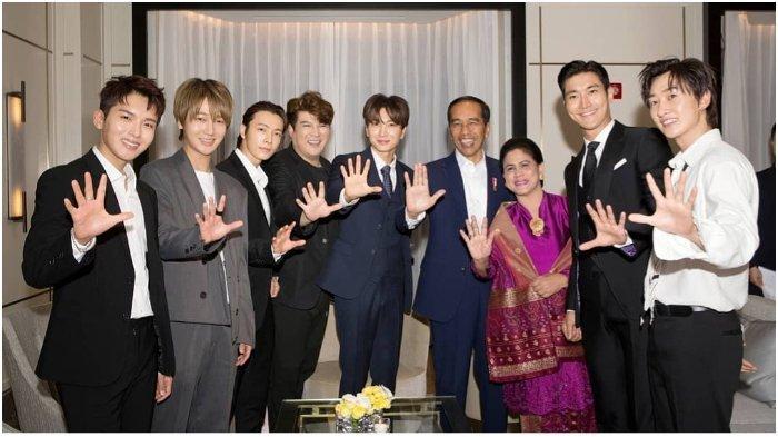 Kesan Para Personel Super Junior usai Bertemu dengan Presiden Jokowi