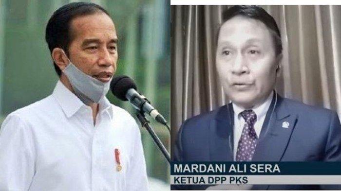 Presiden Joko Widodo dan Mardani Ali Sera
