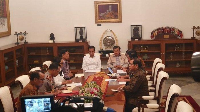 Bahas Papua, Presiden Jokowi Rapat Terbatas, Panggil Wapres JK, Wiranto dan Beberapa Menteri