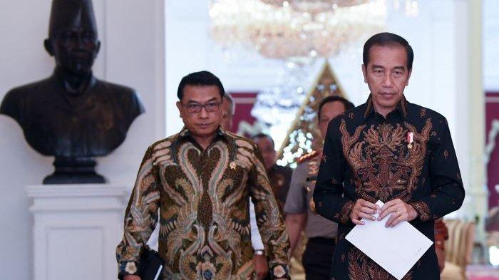 Presiden <a href='https://manado.tribunnews.com/tag/jokowi' title='Jokowi'>Jokowi</a> dan Kepala Kepala Staf Presiden (KSP) <a href='https://manado.tribunnews.com/tag/moeldoko' title='Moeldoko'>Moeldoko</a>.