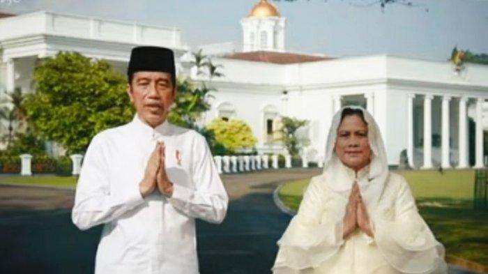 Presiden Jokowi rayakan Lebaran 2021 tanpa anak, menantu dan cucu berikan ucapan selamat Idul Fitri 1 Syahwal 1442 hijiriah.