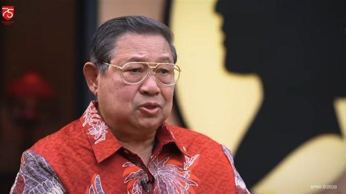 Presiden ke-6 RI Susilo Bambang Yudhoyono (SBY). Isu kudeta Demokrat Ketua Umum AHY.