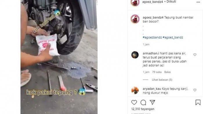 Produsen Ban Tak Bisa Berkomentar soal Video Tambal Ban Pakai Tepung yang Viral